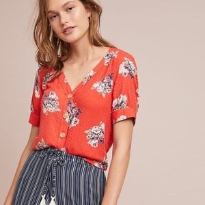 NWT Anthropologie Maeve Hansley floral blouse